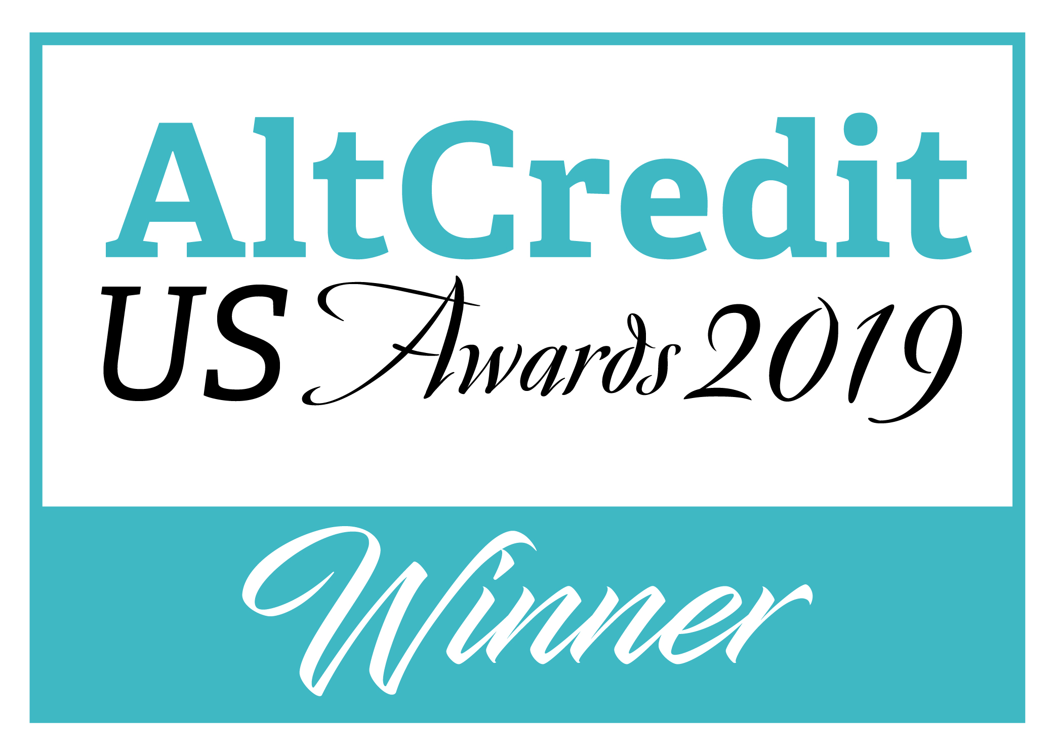 AltCredit US Awards Logo - Winner