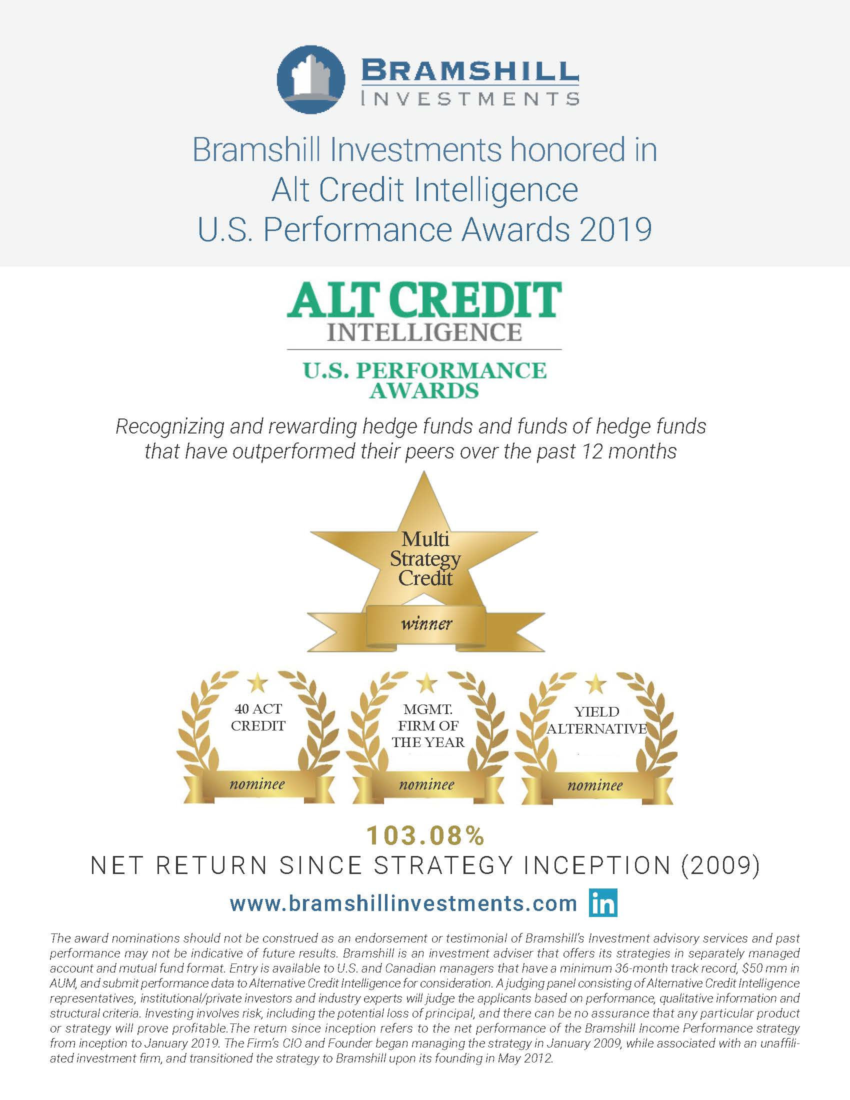 Bramshill Alt Credit Awards Winner Promo Pic
